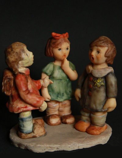 """""""Schoolgirls"""", Sculpey, 5.5x5"""", 2003"""