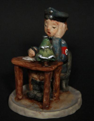 """""""Little Lagerkommandant"""", Sculpey, 3x5"""", 2000 (SOLD)"""