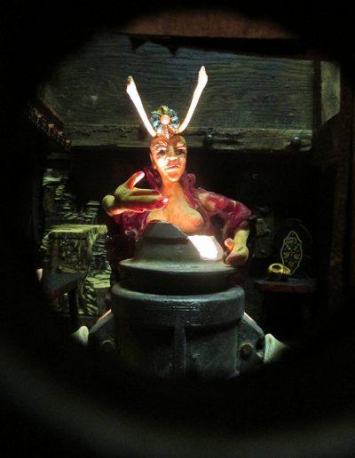 """Baba Yaga House"", inside box view"