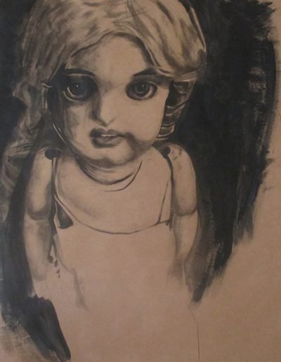 """Big Doll"", acrylic on paper, 42x64"", 2015"