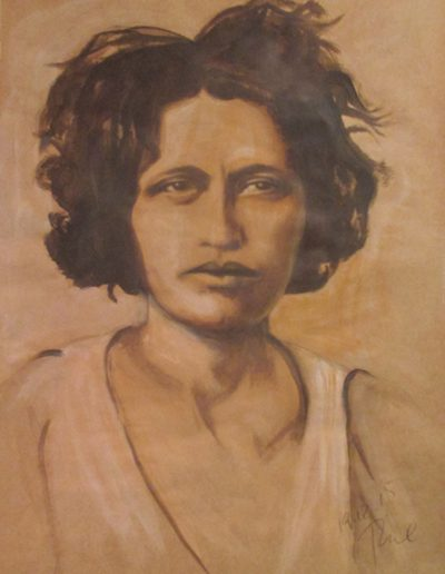 """Blanche Barrow"", acrylic on paper, 28x26"", 2016"