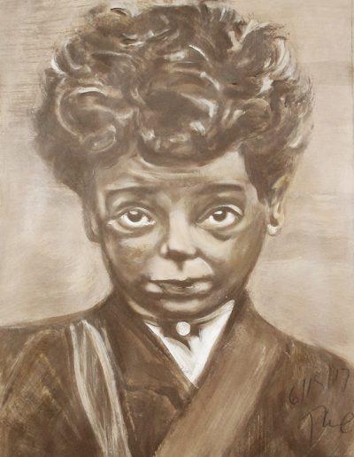 """Chicago Boy"", acrylic on paper, 17x22"", 2017"