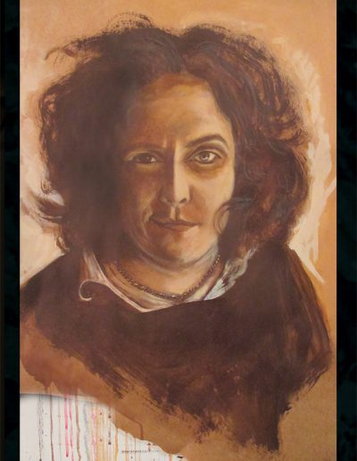 """Claudia Schmitz"", acrylic on paper, 28x34"", 2017"