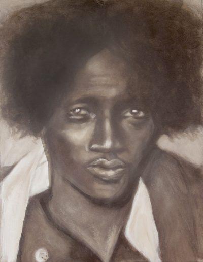 """Ethiopean Man"", acrylic on paper, 17x22"", 2017"