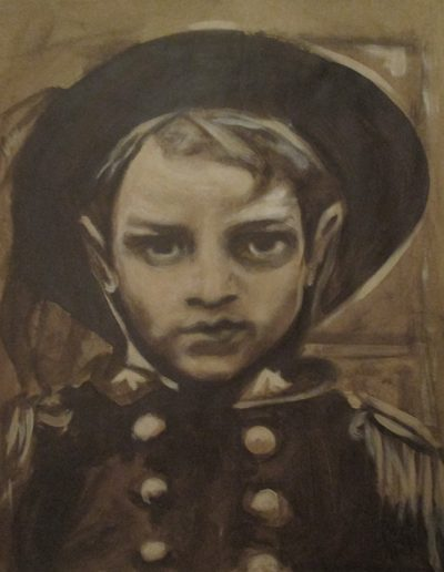 """Italian Boy"", acrylic on paper, 17x22"", 2017"