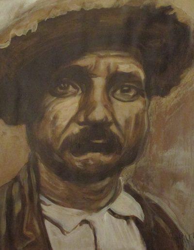 """Italian Man"", acrylic on paper, 17x22"", 2017"
