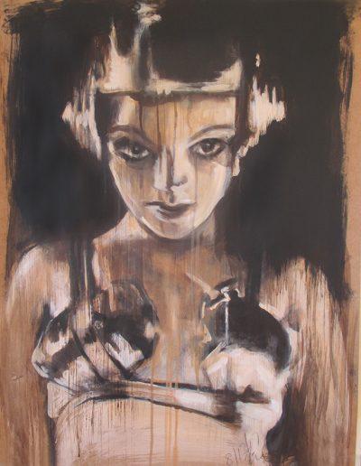 """Madam Satan"", acrylic on paper, 16x24"", 2017 (SOLD)"