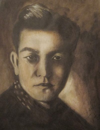 """Sessue Hayakawa"", acrylic on paper, 17x22"", 2017"