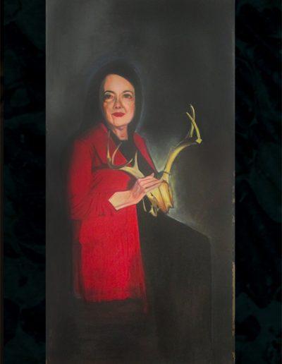 """Snow White"", acrylic on masonite, 4x8', 2018"