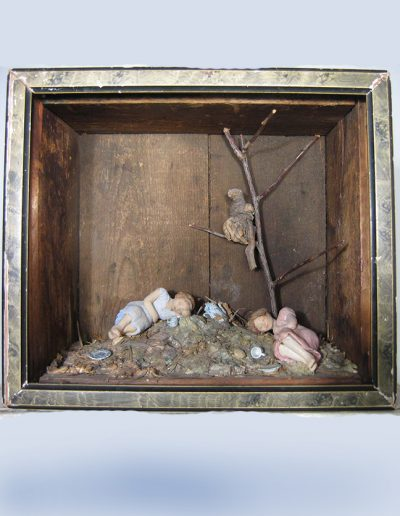 """Asleep In The Woods"", mixed media, 10x10x4"", 2004"