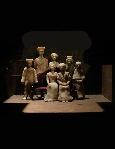 """""""Last of The Romanovs"""", inside box view, mixed media, 12x12x24"""", 2003"""