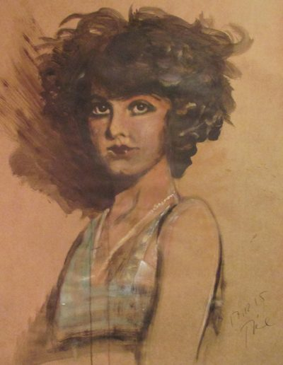 """Dorothy Fenron"", acrylic on paper, 28x40"", 2016"