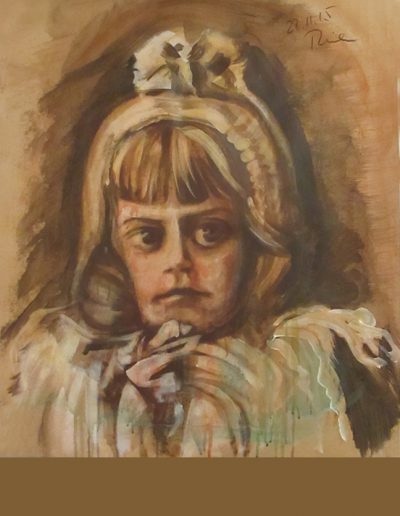 """Edith"", acrylic on paper, 28x30"", 2015"