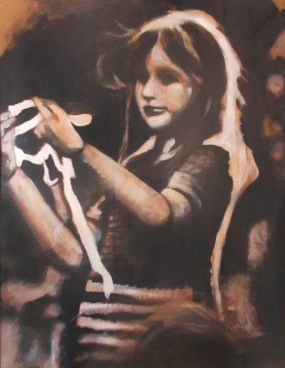 """Self"", acrylic on paper, 24x32"", 2015"